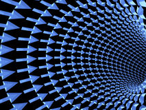 箭头, 3D隧道  免版税图库摄影