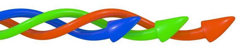 箭头, 3D 免版税图库摄影