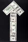 箭头货币 免版税库存图片