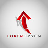 箭头LOREM IPSUM 2017 2 免版税库存照片