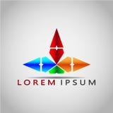 箭头LOREM IPSUM 2017 12 免版税图库摄影