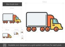 箱子卡车线象 库存图片