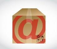 箱子和在标志例证设计 免版税库存照片