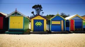 箱子在布赖顿,澳大利亚 免版税库存图片