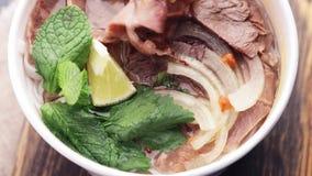 箱子用亚洲食物和肉 股票录像