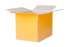 箱子由皱纸板制成由被回收的纸制成意欲 库存照片