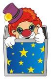箱子的小丑 图库摄影