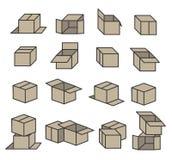 箱子象 图库摄影