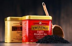 箱子Twinings茶 免版税库存图片