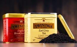 箱子Twinings茶 免版税库存照片