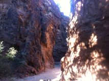 箱形峡谷 库存照片