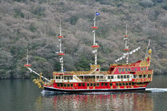 箱根观光的船 库存图片