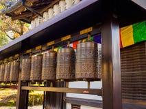 箱根,日本- 2017年7月02日:关闭位于京都市的古铜色响铃结构在京都 库存图片