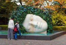 箱根,日本- 2017年11月5日:头露天博物馆的雕塑 复制文本的空间 库存图片