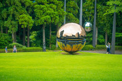 箱根,日本- 2017年7月02日:箱根露天博物馆或箱根Chokoku没有Mori Bijutsukan是普遍的博物馆 库存照片