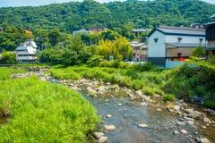 箱根,日本- 2017年7月02日:近巨大的大厦河在箱根 图库摄影