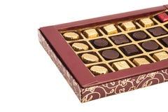 箱被隔绝的巧克力糖 图库摄影