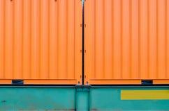 货箱铁路运输 库存照片