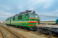 货箱铁路运输 免版税库存图片