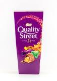 箱质量街道巧克力甜点 免版税库存图片