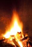 篝火在晚上 免版税库存图片