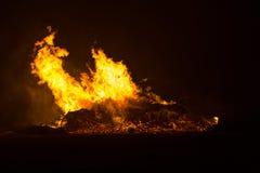 篝火在Floradorp北部的阿姆斯特丹 库存图片
