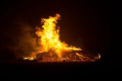 篝火在Floradorp阿姆斯特丹 图库摄影