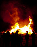 篝火夜 库存图片