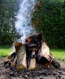 篝火接近  库存图片