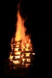 篝火晚上 库存照片