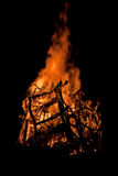 篝火晚上 库存图片