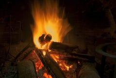 篝火烟囱 库存照片