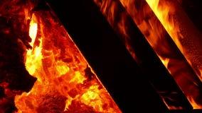 篝火的细节 影视素材