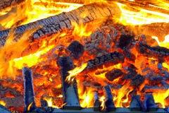 篝火 免版税库存照片
