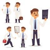 篡改护士字符传染媒介医生职员平的设计医院队人博士学位例证 库存例证