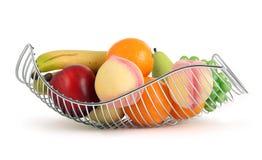 篮子五颜六色的果子 图库摄影