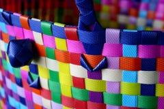 篮子五颜六色编织 免版税库存图片