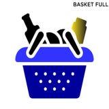 篮子充分的象标志设计 向量例证