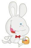 篮子兔宝宝复活节彩蛋运行 库存图片