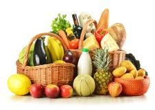 篮子副食品查出空白柳条 库存照片