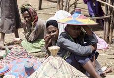 篮子卖主,埃塞俄比亚 库存照片