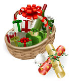 篮子圣诞节例证 免版税库存图片