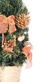 篮子圣诞节金零件结构树 库存图片