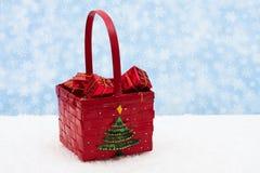 篮子圣诞节 免版税库存照片