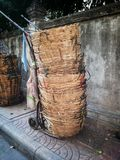 篮子在新鲜市场上 免版税库存照片