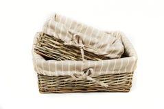 篮子在集上添面包 免版税库存图片