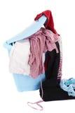 篮子坏的洗衣店白色 免版税库存图片