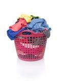 篮子坏的洗衣店 库存图片