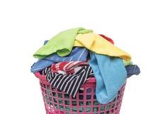 篮子坏的洗衣店 免版税库存图片