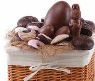 篮子复活节甜点 库存照片